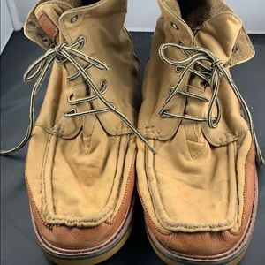 Toms 12 Boots Leather Trim